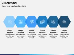 Linear Venn Diagram PPT Slide 9