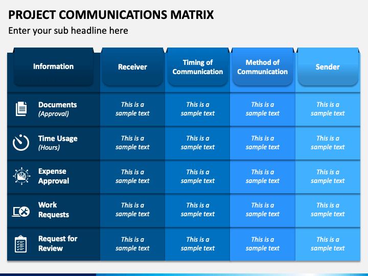 Project Communications Matrix PPT Slide 1