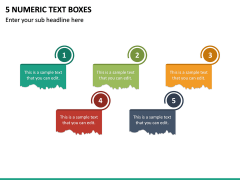 5 Numeric Text Boxes PPT Slide 2