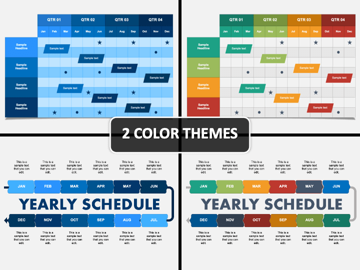 Yearly Schedule PPT Cover Slide