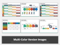 SCRUM Timeline Multicolor Combined