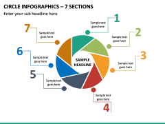 Circle Infographics – 7 Sections PPT Slide 2