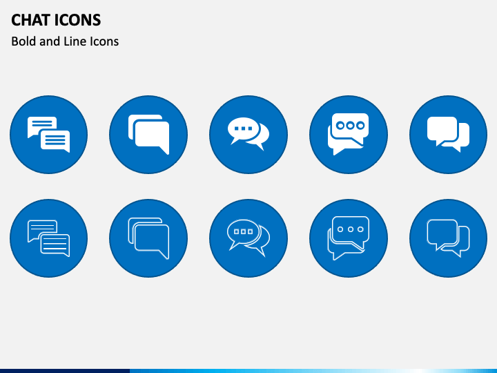 Chat Icons PPT Slide 1