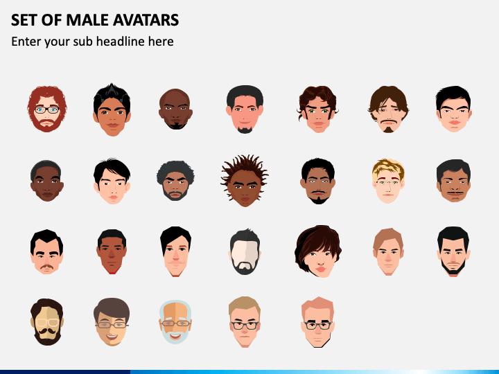 Male Avatars PPT Slide 1