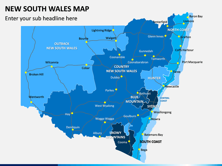 New South Wales Map PPT Slide 1