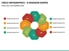 Circle Infographics – 8 Hexagon Shapes PPT Slide 2