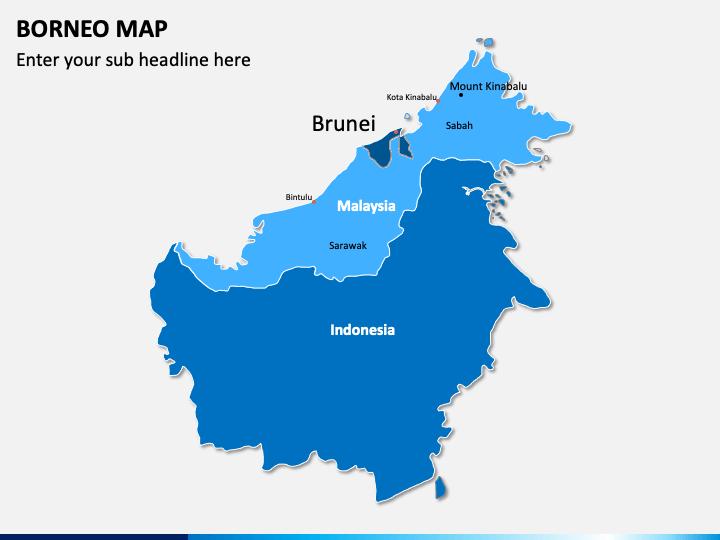 Borneo Map PPT Slide 1