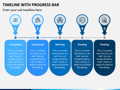 Timeline With Progress Bar PPT Slide 5