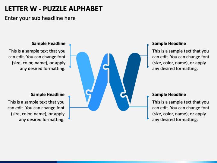 Letter W - Puzzle Alphabet PPT Slide 1