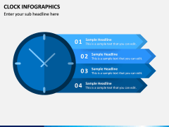 Clock Infographics PPT Slide 1