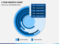 5 Year Growth Chart PPT Slide 3