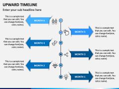 Upward Timeline PPT Slide 3