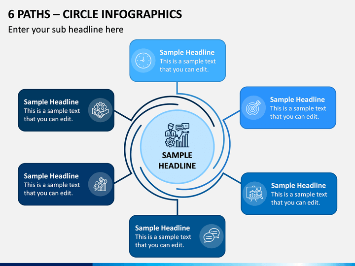 6 Paths - Circle Infographics PPT Slide 1