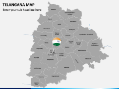 Telangana Map PPT Slide 2