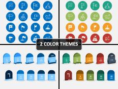 Milestone Icons PPT Cover Slide