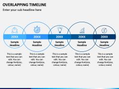 Overlapping Timeline PPT Slide 4