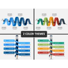 Ribbon Timeline PPT Cover Slide