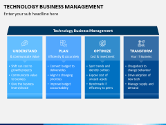 Technology Business Management PPT Slide 1
