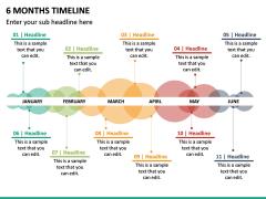 6 Months Timeline PPT Slide 2
