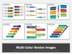 Upward Timeline PPT Multicolor Combined