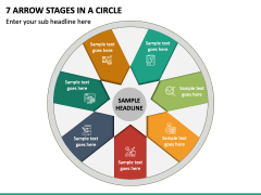 7 Arrow Stages in a Circle - Free PPT Slide 2
