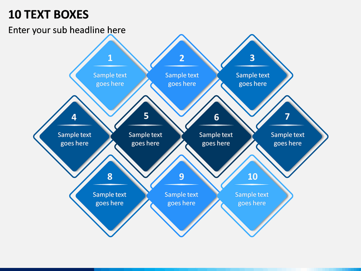 10 Text Boxes PPT Slide 1