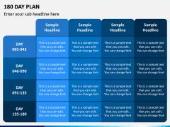 180 Day Plan PPT Slide 4