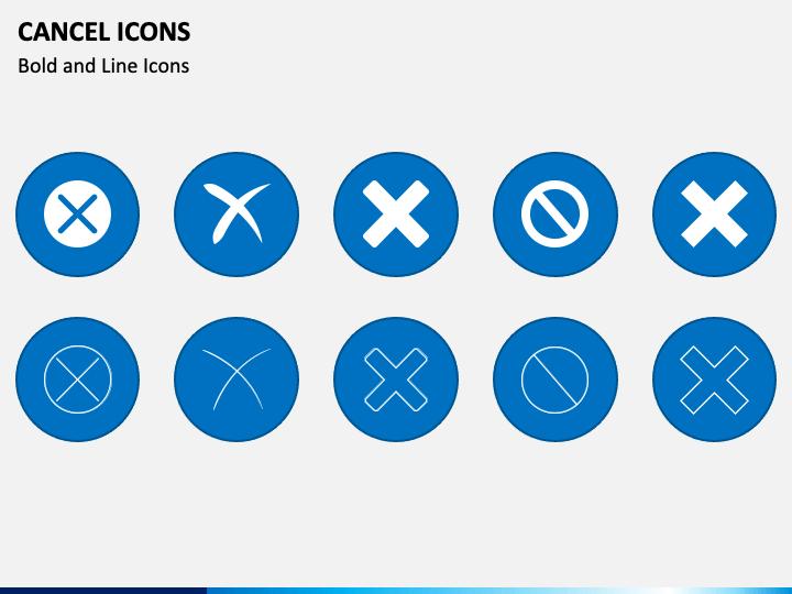 Cancel Icons PPT Slide 1