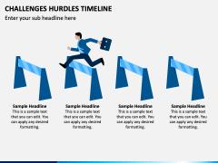 Challenges Hurdles Timeline PPT Slide 3