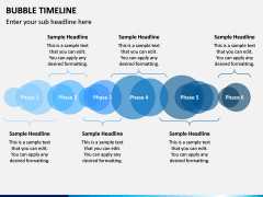 Bubble Timeline PPT Slide 1