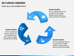 3D Curved Arrows PPT Slide 13