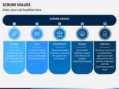 SCRUM Values PPT Slide 1