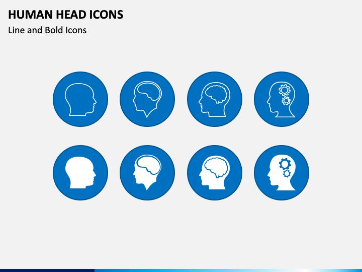 Human Head Icons PPT Slide 1