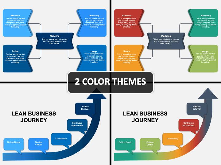 Lean Business Process PPT Cover Slide