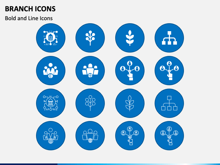 Branch Icons PPT Slide 1