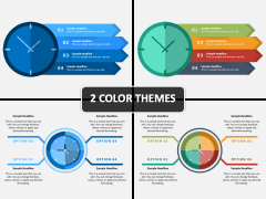 Clock Infographics PPT Cover Slide