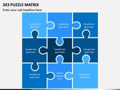 3x3 Puzzle Matrix PPT Slide 1