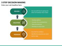 3 Step Decision Making PPT Slide 5