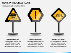Work in Progress (WIP) Icons PPT Slide 5