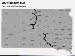 South Dakota Map PPT Slide 2