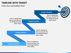 Timeline With Target PPT Slide 2