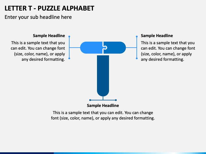 Letter T - Puzzle Alphabet PPT Slide 1