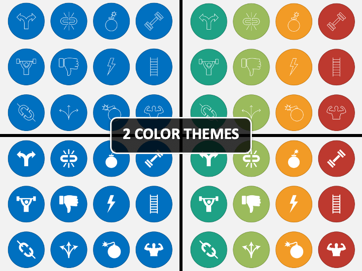 SWOT Icons PPT Cover Slide