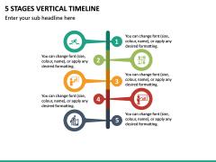 5 Stages Vertical Timeline PPT Slide 2