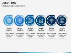 Linear Flow Infographics PPT Slide 2