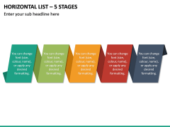 Horizontal List - 5 Stages PPT Slide 2