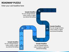 Roadmap Puzzle PPT Slide 6