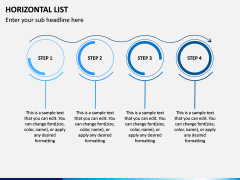 Horizontal List Infographics PPT Slide 7