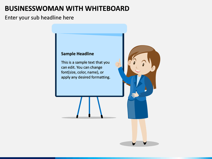 Businesswoman With Whiteboard PPT Slide 1