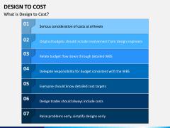 Design To Cost PPT Slide 1
